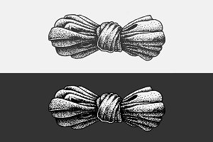 Dot Work Illustration Bow
