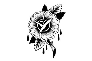 Roses Tattoo Sketch