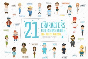 21 Professions characters.