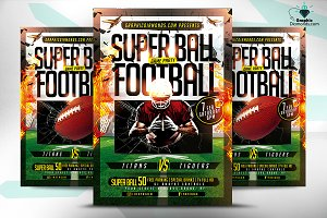 Super Ball Football Game Flyer