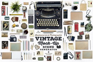 Vintage Mock-Up Scene Generator