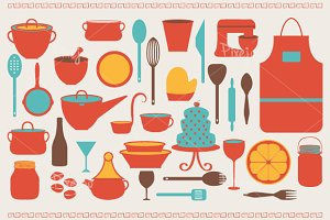 Cooking and Kitchen Cliparts