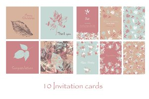 10 invitation cards