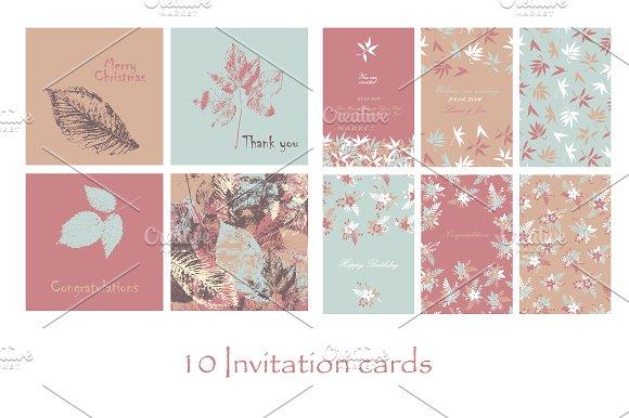 10 invitation cards