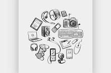 Circular design of electronic gadget