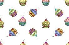 Cupcake colorful pattern