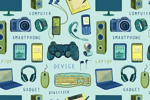 Pattern of electronic gadget