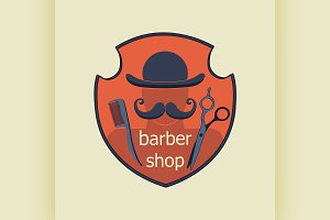 Vintage Barber Shop Label