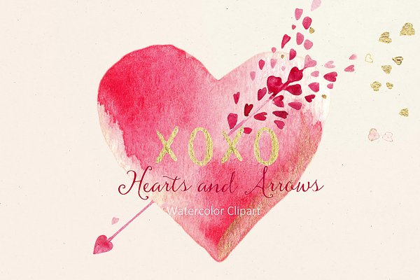 Hearts and arrows Valentines clipar…