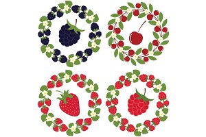 Berry wreath set