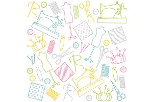 Doodle sewing set
