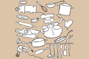 Doodle cooking set