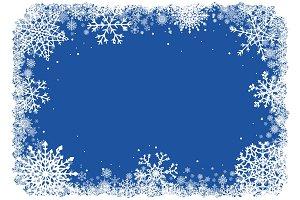 Vector Christmas Snowflakes Frame.