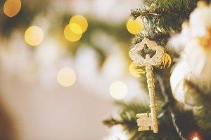 Key on a Christmas tree