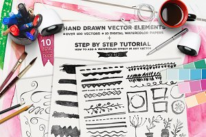 Hand Drawn Vector Elements Vol.2