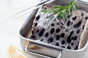 Slice of fresh fish (Zubatka)