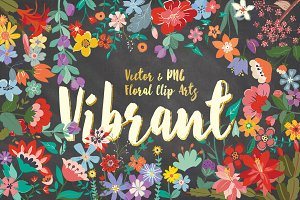 [20%OFF]Vibrant Floral Design Bundle