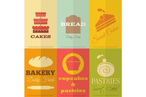 Retro Bakery Labels