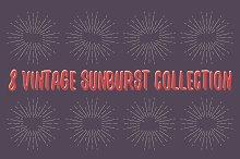 8 Vintage Sunburst collection