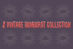 8 Vintage Sunburst collection