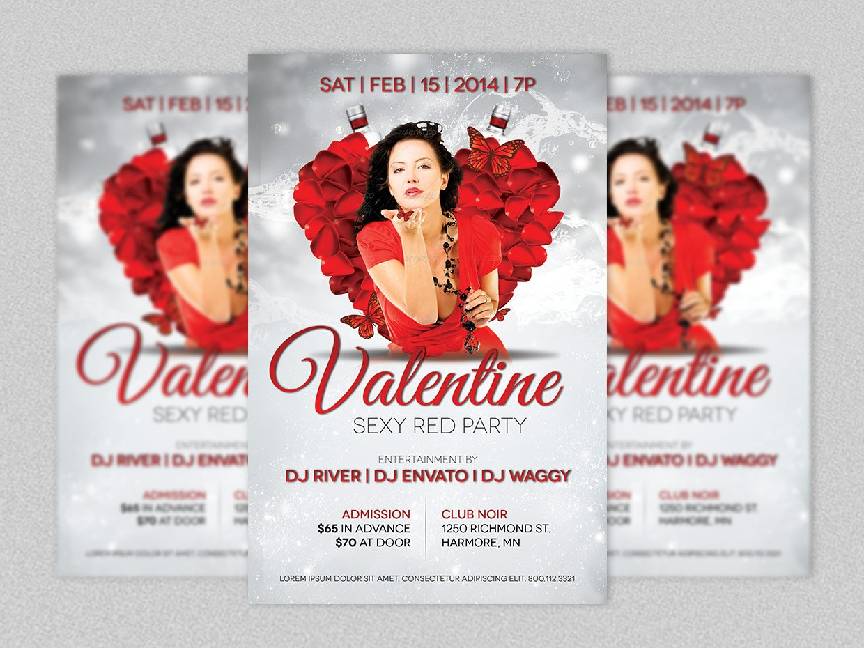 valentines event flyer template flyer templates creative market