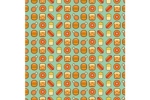 two fast food seamless backgrounds