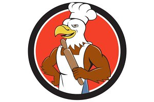 Bald Eagle Baker Chef Rolling Pin Ci