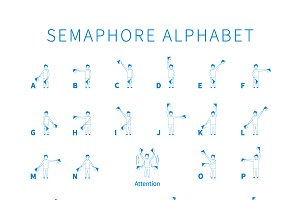 English semaphore alphabet