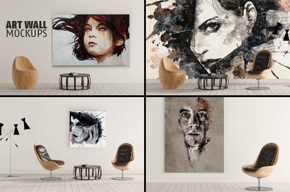 ART WALL MOCKUPS Vol.2 - Product Mockups