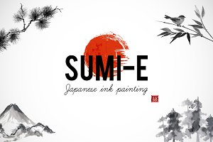 Japanese ink painting sumi-e, part 2