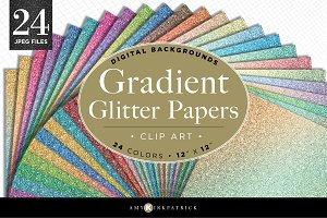 24 Realistic Gradient Glitter Pack