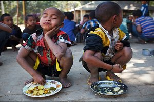Hungry Tribal Child
