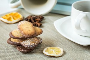 Assorted Cookies on wooden table