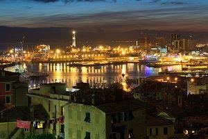 The ancient port in Genova, Italy