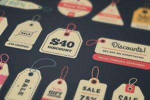 32 Vintage Sale Tags