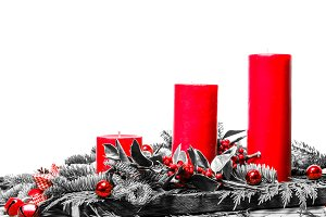 Red candles selective color