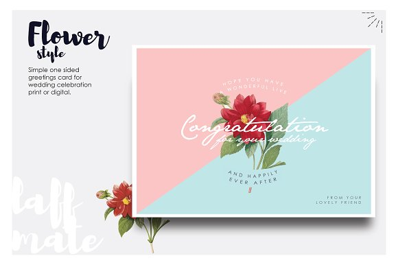 Modern greeting card for wedding card templates creative market m4hsunfo