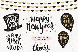New Year Collection EPS & PNG
