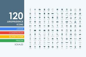 120 jurisprudence icons