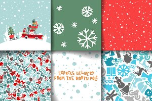 Merry Christmas Set Of Card Template