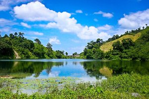 Charming scenery of lake