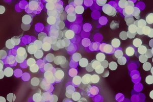 Purple, White bokeh