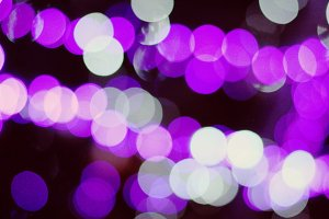 Purple, white night bokeh