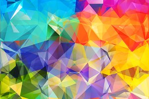 Set Abstract Geometric Background