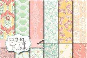 Spring Florals Digital Paper