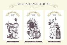 Vegetable and seed-oil illustration