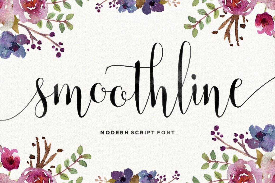 Smoothline Script Script Fonts Creative Market