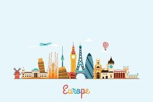 Europe skyline