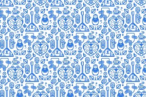 Seamless Pattern in Russian Style