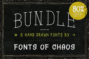 Hand drawn fonts - Bundle ! 80% OFF